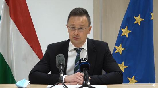 3月,匈牙利外長抨擊歐盟制裁中方官員:愚蠢