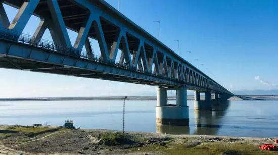 ▲博吉比尔桥(今日印度)