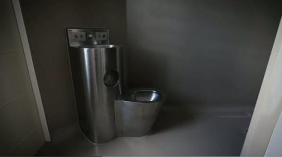 奥克兰监狱内的洗手间(图源:新西兰先驱报)