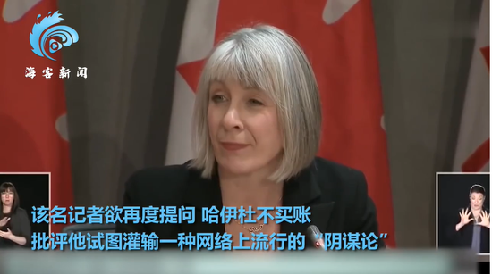 添拿大卫生部长帕蒂·哈伊杜(图源:海外网)