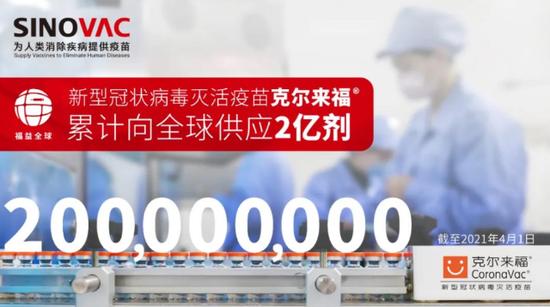 北京科兴中维新冠疫苗年产能达20亿剂
