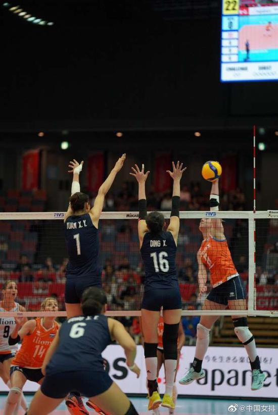 九连胜 中国女排3-1击败荷兰队