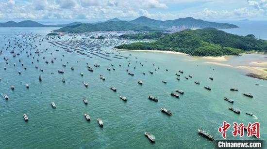 资料图:南海开渔节阳江举行,约1300艘渔船出海。 阳江市海陵岛 供图