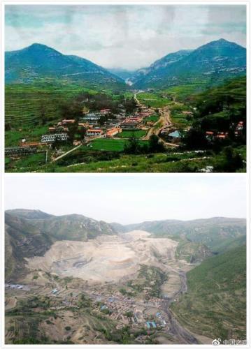 山西一礦企借復墾名義挖煤 山體被破壞植物枯萎