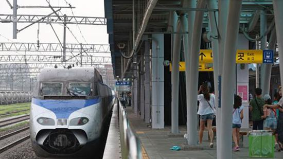 资料图:韩国高铁KTX(韩国MBC新闻)