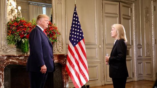 """特朗普谈到经济问题是,认为美国面临很多威胁,""""被这么多国家坑了""""(图片来源:美媒)"""
