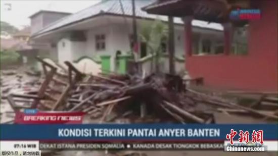 印尼巽他海峡发生海啸 专家:初判由火山喷发引起
