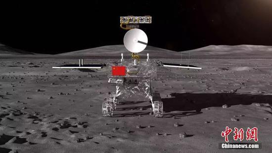 嫦娥四号月球车外面设计构型。 国防科工局探月与航天工程中心 供图