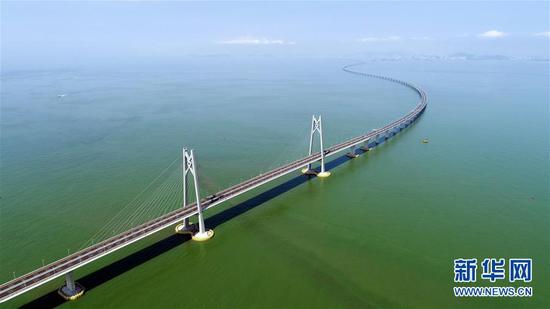 港珠澳大桥。新华社记者梁旭摄