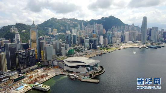 香港会议展览中心。新华社记者 吕小炜 摄