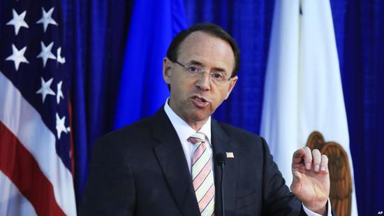 美国司法部副部长罗森斯坦(资料图)