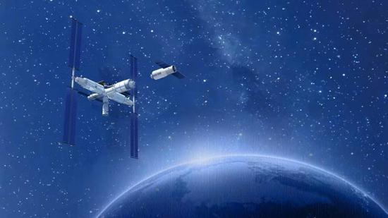 中国空间站示意图