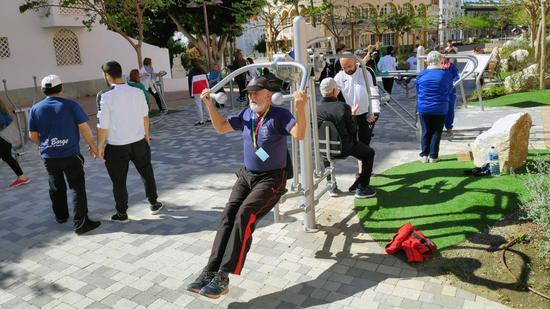 """自2007年起,西班牙南部马拉加已经陆续修建了400多座""""老年人运动场""""。(BBC)"""