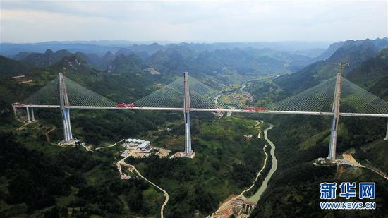 这是9月20日无人机拍摄的贵州平塘特大桥。