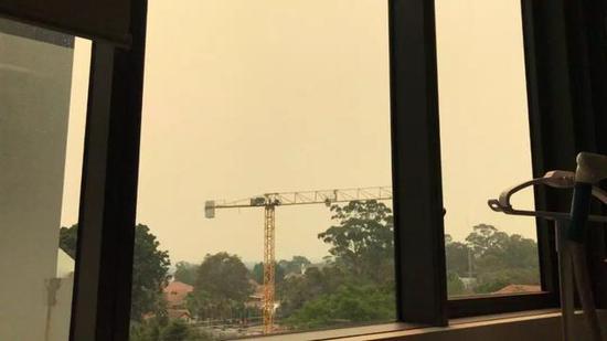 ▲悉尼被霧霾籠罩圖片由采訪對象提供