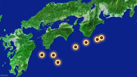 观测到板块移动的7个地点(NHK)