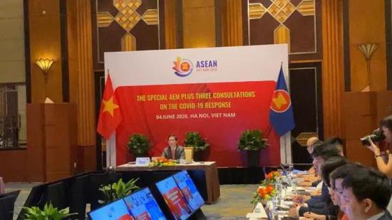 2020年东盟与中日韩经贸部长特别会议在东盟轮值主席国越南主持下以在线会议的形式举行