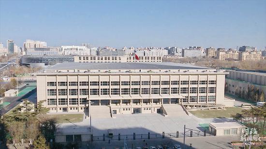 △首都体育馆(总台央视记者鄂介甫拍摄)