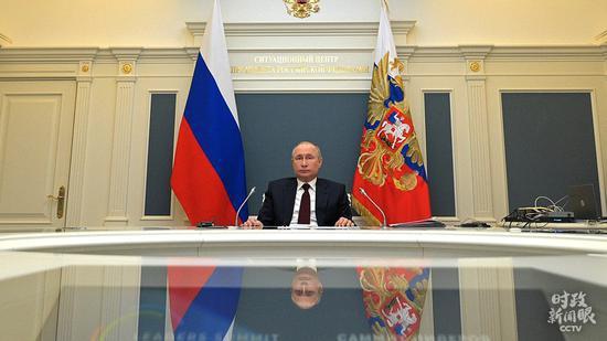 △德国总理默克尔、俄罗斯总统普京以视频方式出席领导人气候峰会。