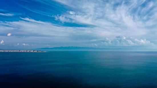 青海湖沙岛一隅