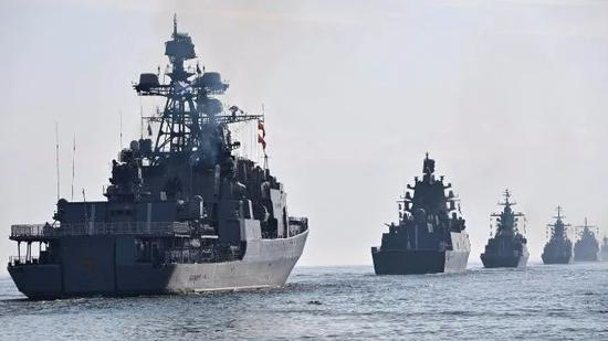 俄海军进行苏联解体后最大规模军演
