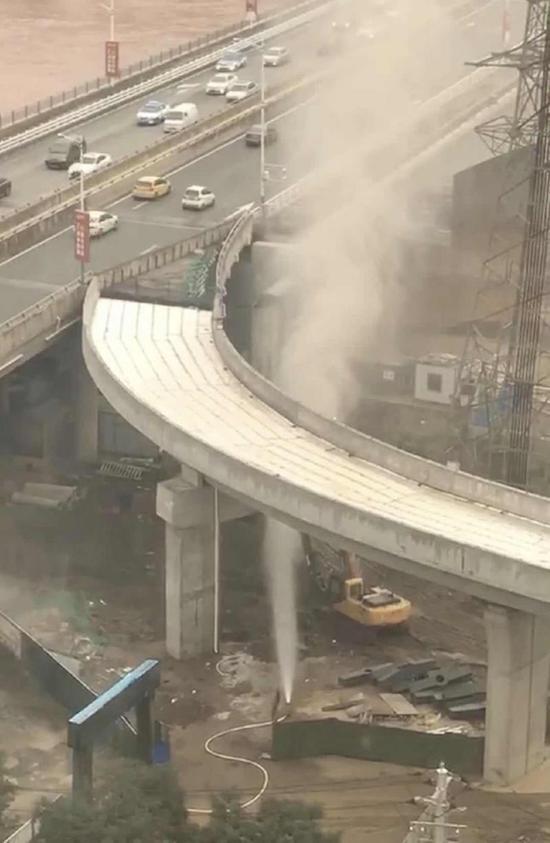 甘肃兰州碧桂园桥下天然气泄漏事故原因正在调查中