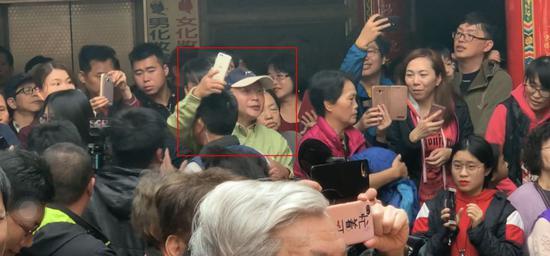 """有民众2月5日现场抗议蔡英文(图片来源:台湾""""联合新闻网"""")"""