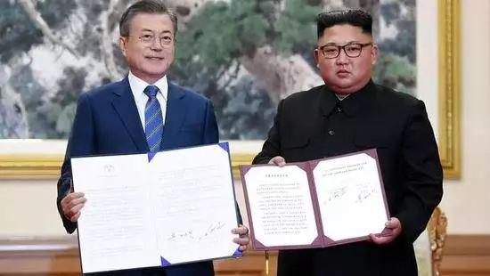 2018年朝韩领导人签定《9月平壤共同宣言》