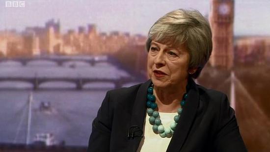 特蕾莎·梅在BBC节目上否认了有关她将再次推迟英国退欧投票的报道。(每日邮报)