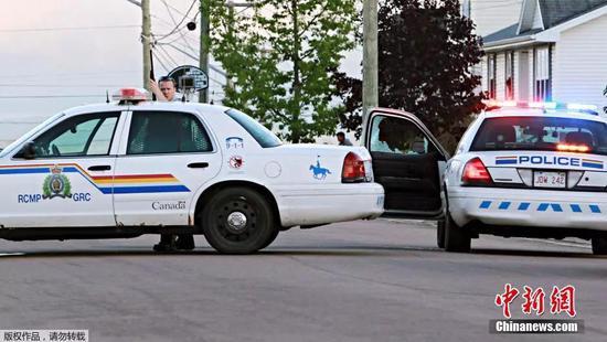 资料图片:加拿大警方执行任务。