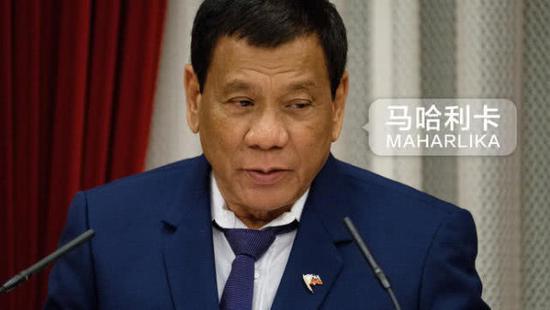 菲律宾总统杜特尔特。