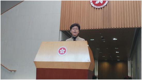 林郑月娥会见媒体。图源:香港《星岛日报》