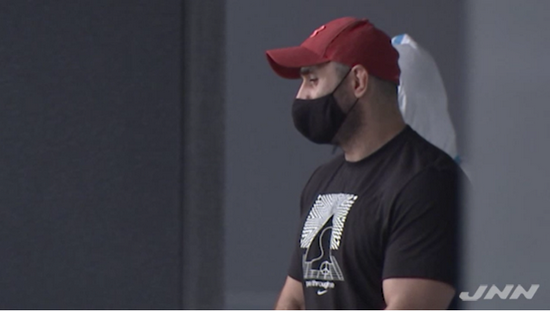 被捕的格鲁吉亚选手(视频截图)