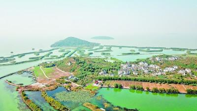 行为长三角地区三大淡水湖之一的太湖风光 新华社发