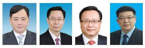 从左至右:刘忻、蓝绍敏、孙述涛、周先旺