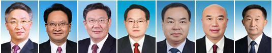 从左至右:张国清、景俊海、王文涛、易炼红、唐良智、刘国中、刘宁
