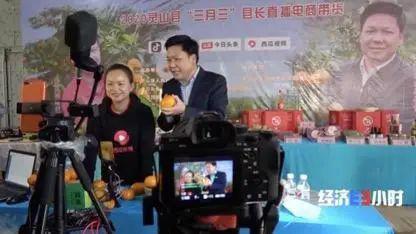 甘有琴与广西灵山县县长做直播