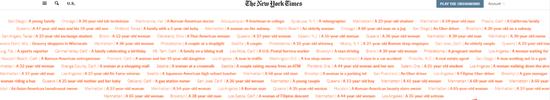 """《纽约时报》立起歧视亚裔""""耻辱墙""""。来源:NYT"""