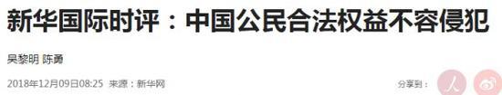 ▲新华社文章截图