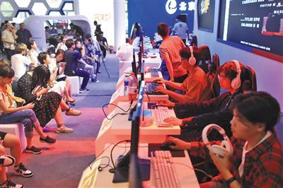 5月29日,文博会,海淀区展位设置了电竞对战台。 新京报记者 浦峰 摄