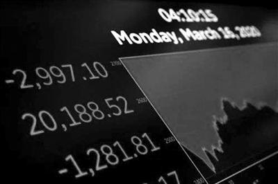 美国纽约证券交易所电子显示屏供图/新华社