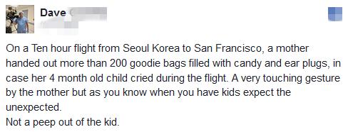 受够飞机上的熊孩子?韩国妈妈准备小礼物和纸条获赞