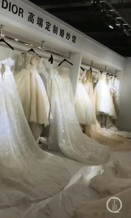 ▲出事的李氏婚纱内部场景。图片来源/受访者供图