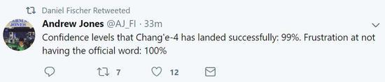 ▲对嫦娥4号成功登陆的信念:99%,对官方迟迟不谈话的躁急水平:100%