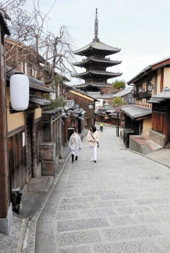 空荡的京都街道(读卖新闻)