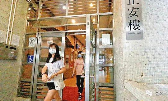 慈云山慈正邨骤成重疫区。香港文汇报记者 摄