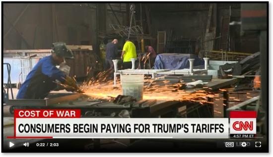 消费者开始为特朗普的关税付出代价(图源:美国有线电视新闻网)