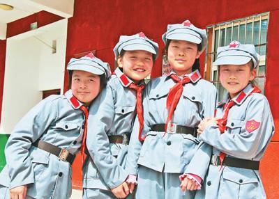 孩子们在照金北梁红军小学快乐成长。人民日报记者 曹树林摄
