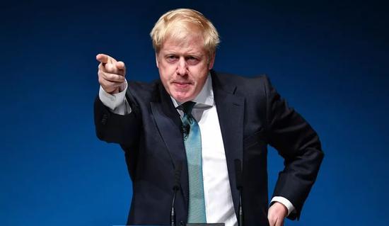 7月5日,鲍里斯·约翰逊在英国珀斯缺席竞选运动图/视觉中国