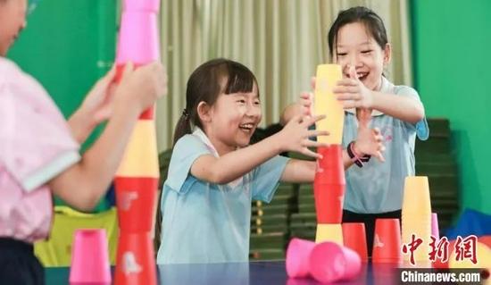 7月19日,北京暑期学生托管服务正式开始。中新社记者 贾天勇 摄